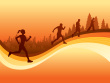 runners-in-sunset-with-city-and-trees